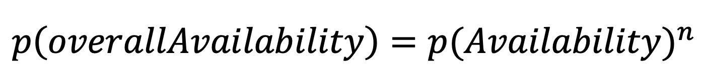 More simple formula for calculating availability